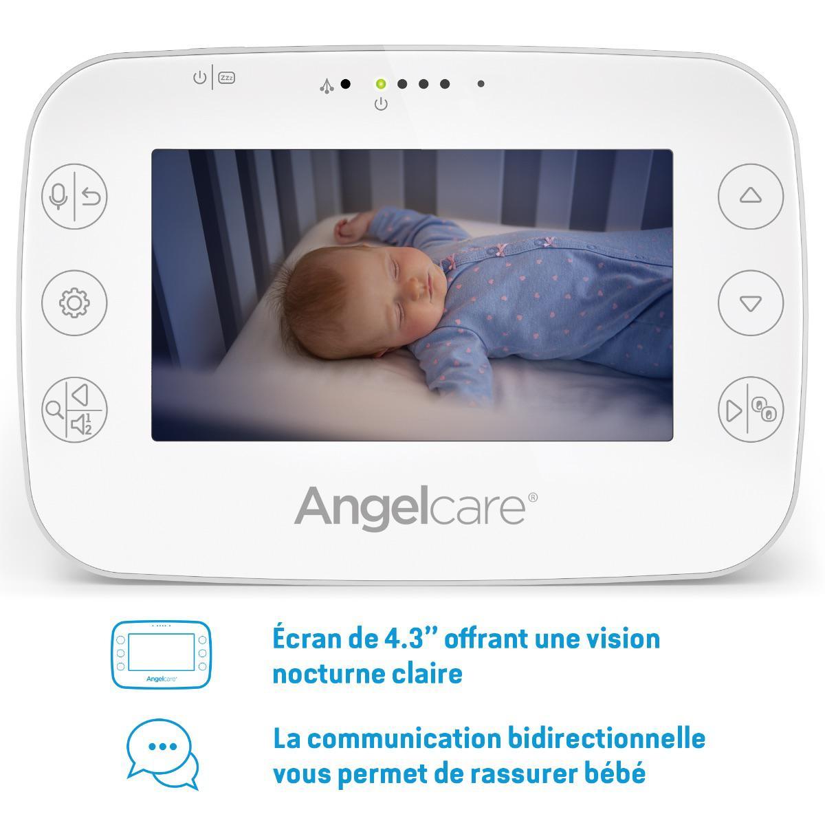 Babyphone AC327 son-mouvement avec caméra Angel Care