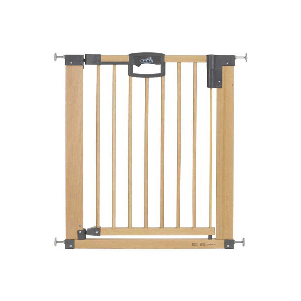 Barrière de sécurité 80,5-88,5 cm EASYLOCK Geuther bois - argenté