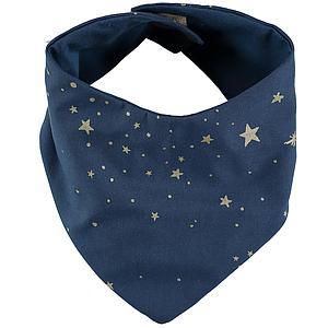 Bavoir bandana LUCKY ELEMENTS Nobodinoz gold stella-night blue