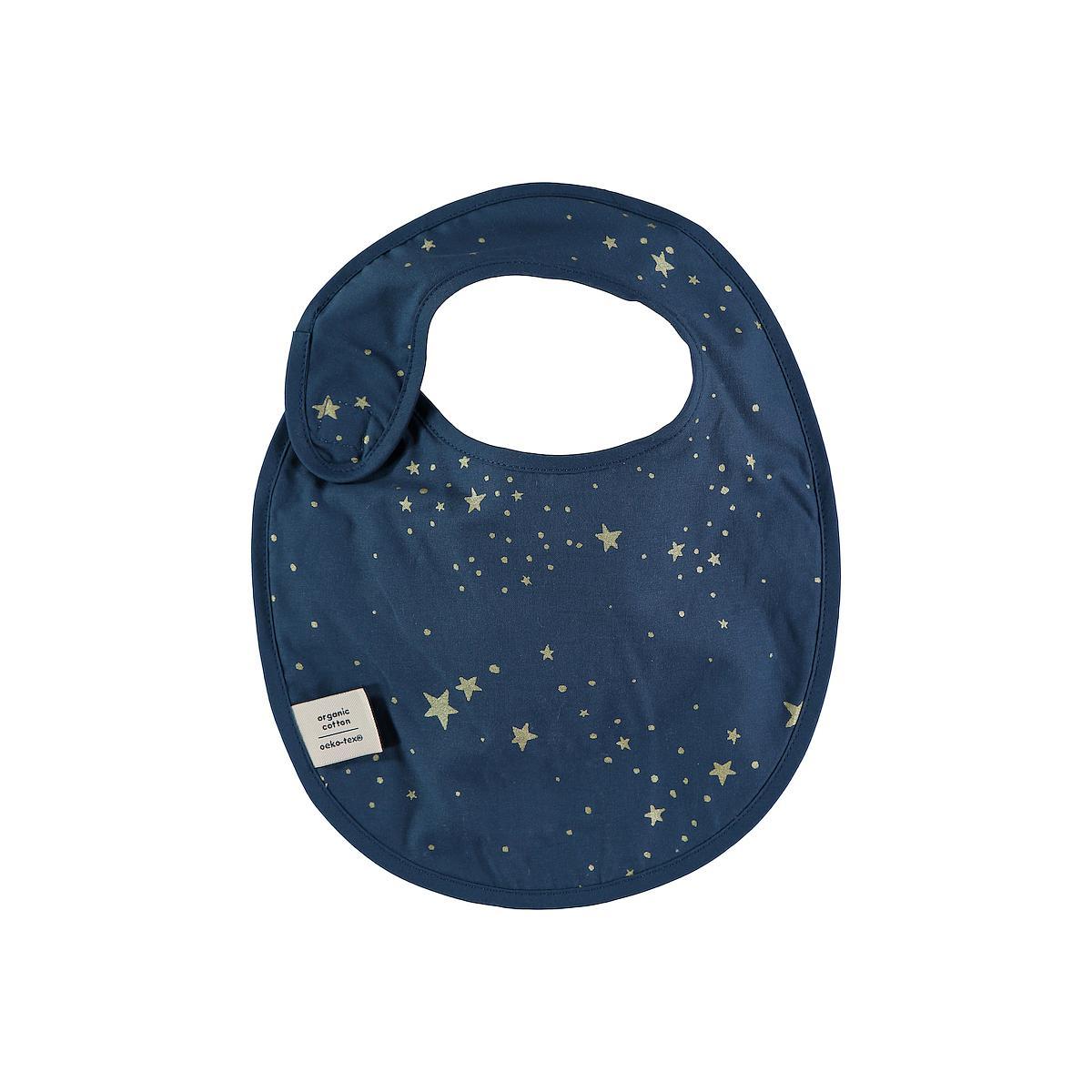 Bavoir CANDY ELEMENTS Nobodinoz gold stella-night blue