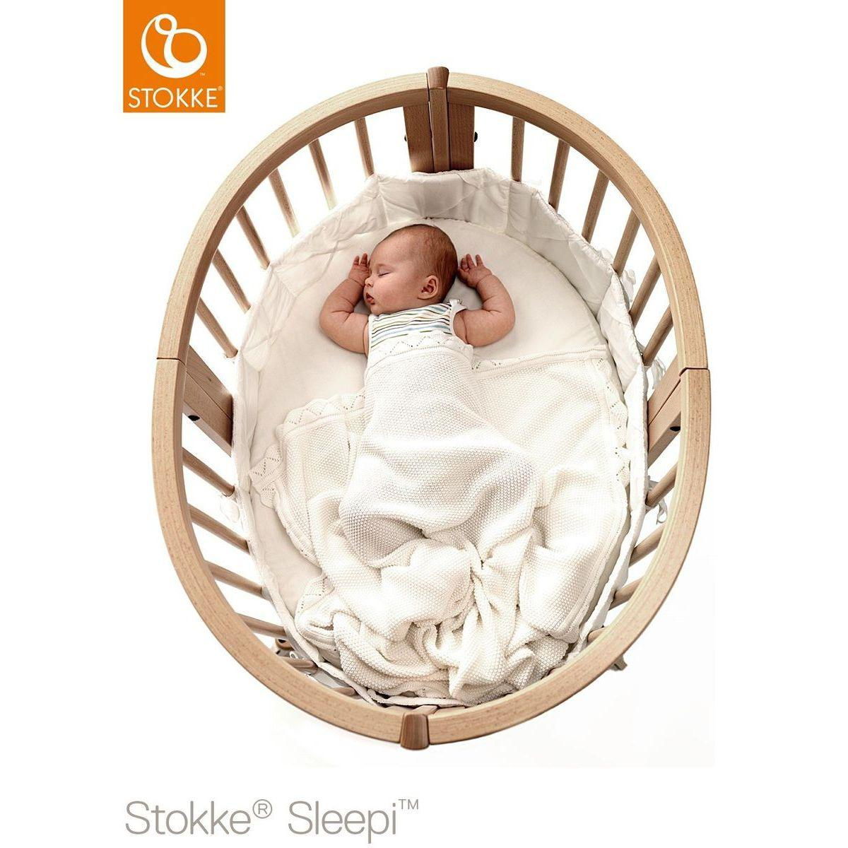 Berceau-lit bébé mini SLEEPI Stokke gris brume