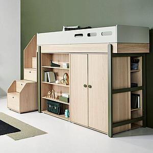 Bibliothèque 138x38cm POPSICLE Flexa chêne