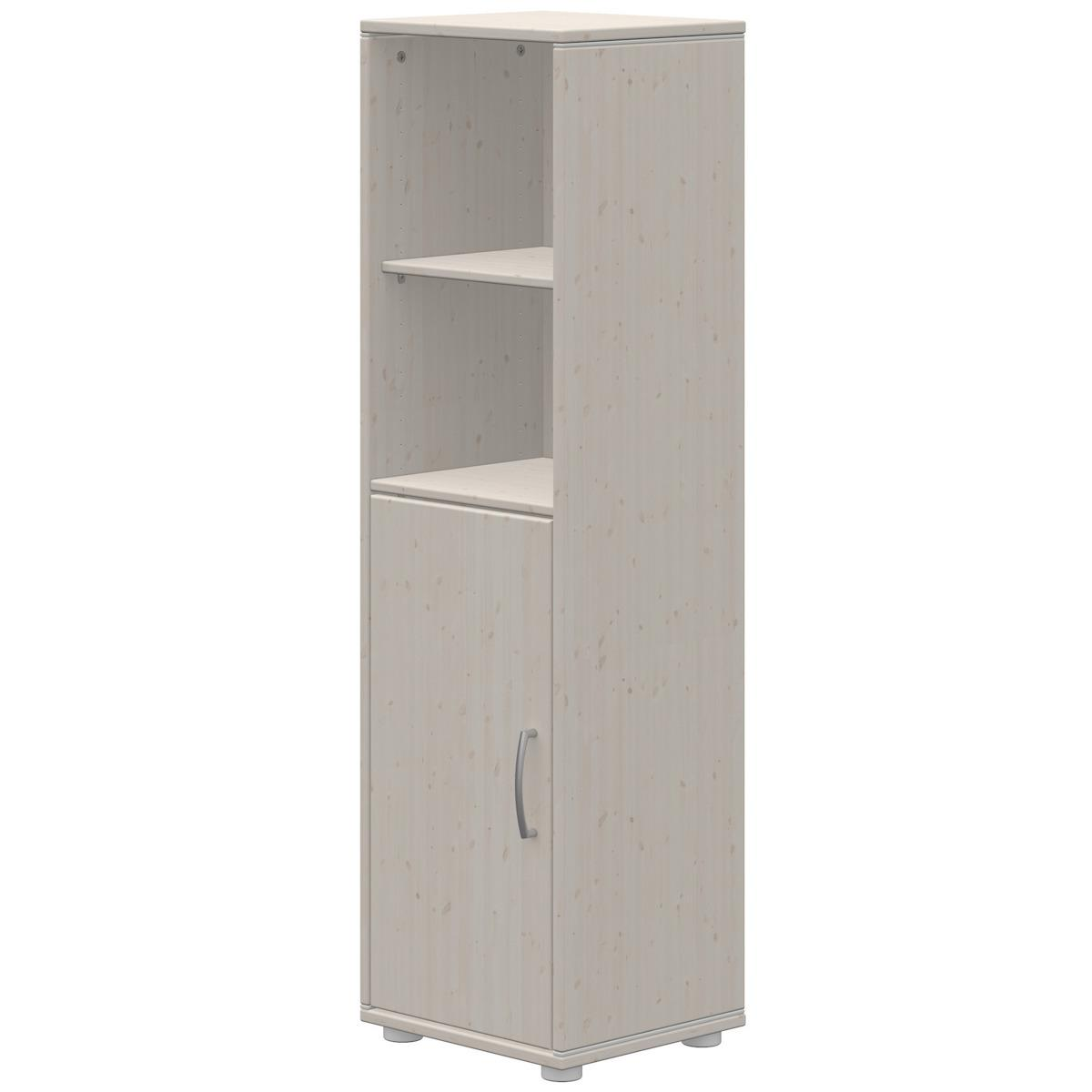 Bibliothèque 38x135cm 1 porte 2 tablettes CLASSIC Flexa grey washed