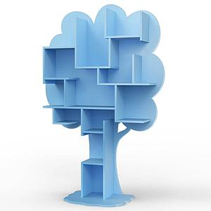 Bibliothèque arbre LOUANE Mathy by Bols bleu azur