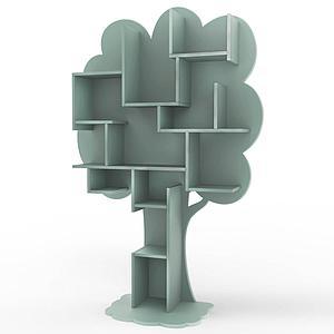Bibliothèque arbre LOUANE Mathy by Bols gris orage