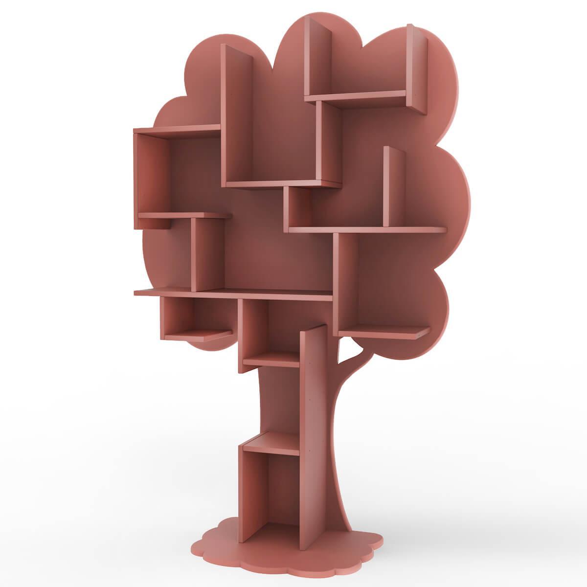 Bibliothèque arbre LOUANE Mathy by Bols marsala