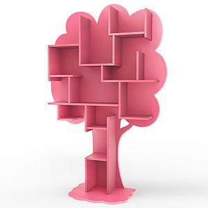 Bibliothèque arbre LOUANE Mathy by Bols rose été