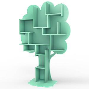 Bibliothèque arbre LOUANE Mathy by Bols vert léger