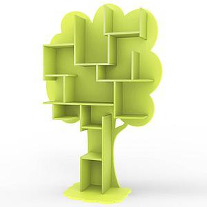 Bibliothèque arbre LOUANE Mathy by Bols vert pomme