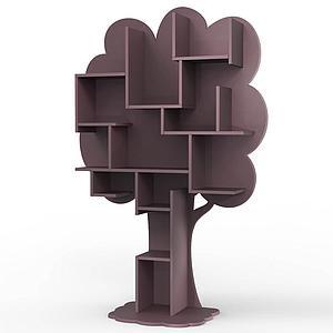Bibliothèque arbre LOUANE Mathy by Bols violet cuberdon
