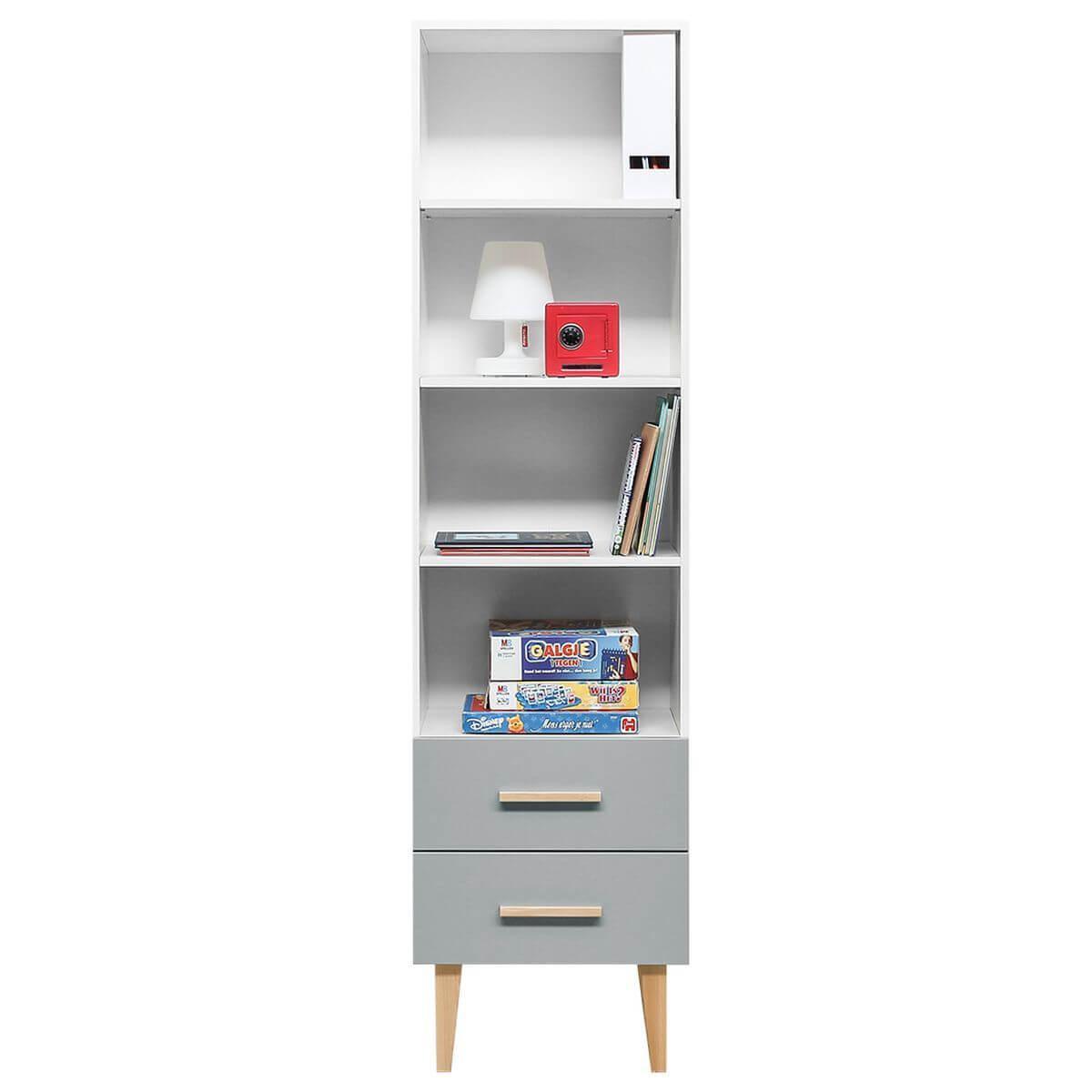 Bibliothèque EMMA Bopita blanc-gris