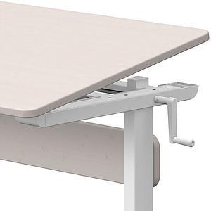 Bureau enfant hauteur réglable CLASSIC Flexa blanc-grey washed