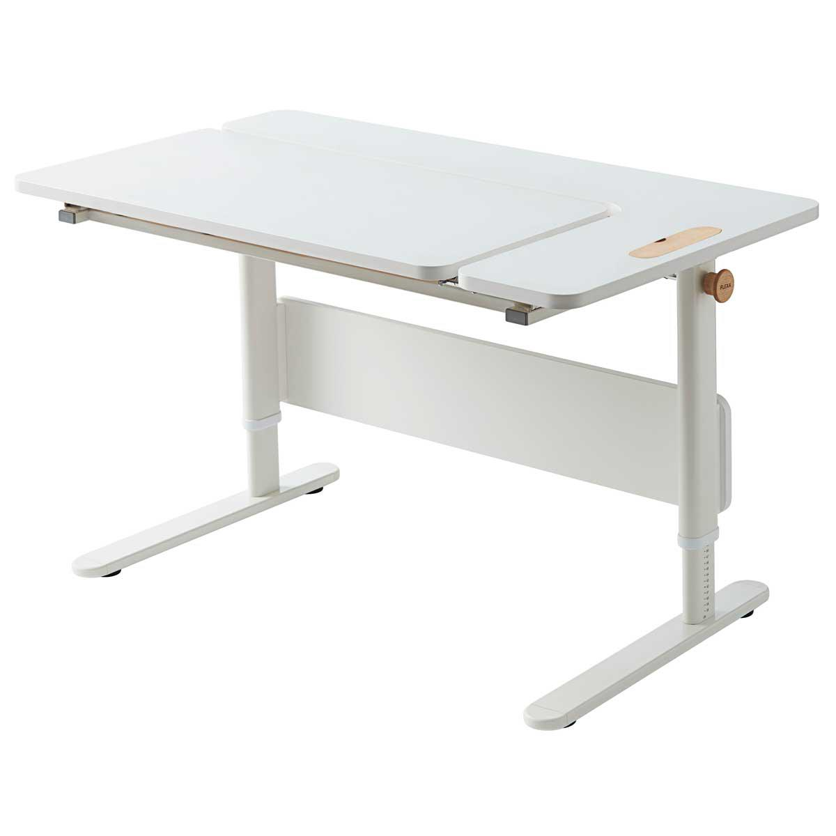 Bureau évolutif inclinable left up MOBY Flexa blanc