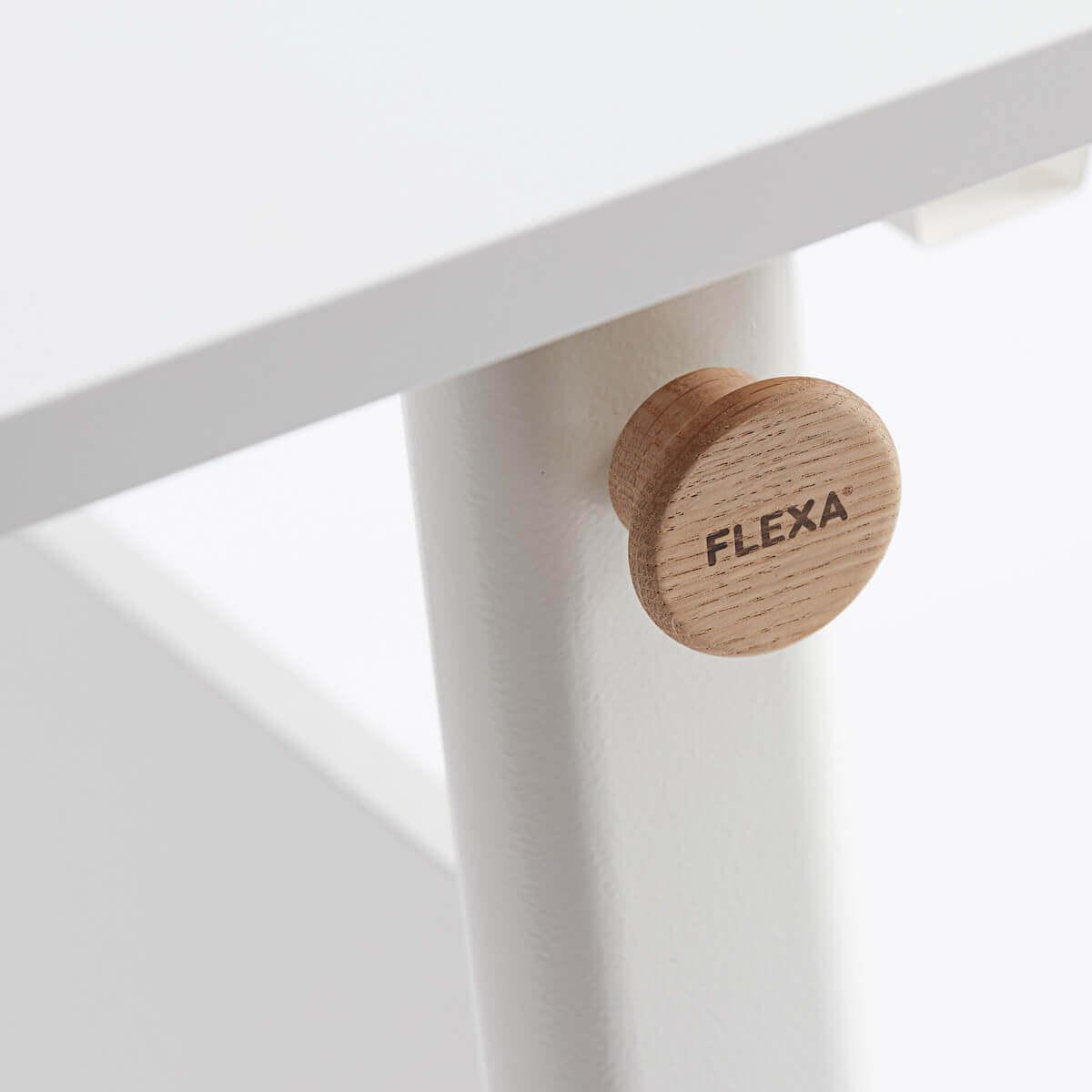 Bureau évolutif inclinable left up MOBY Flexa blanc