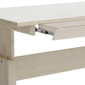 Bureau évolutif réglable 1 tiroir XL Lifetime blanchi