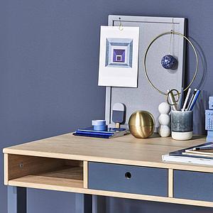 Bureau POPSICLE Flexa chêne-blueberry