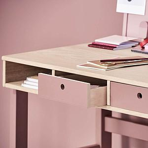 Bureau POPSICLE Flexa chêne-cherry