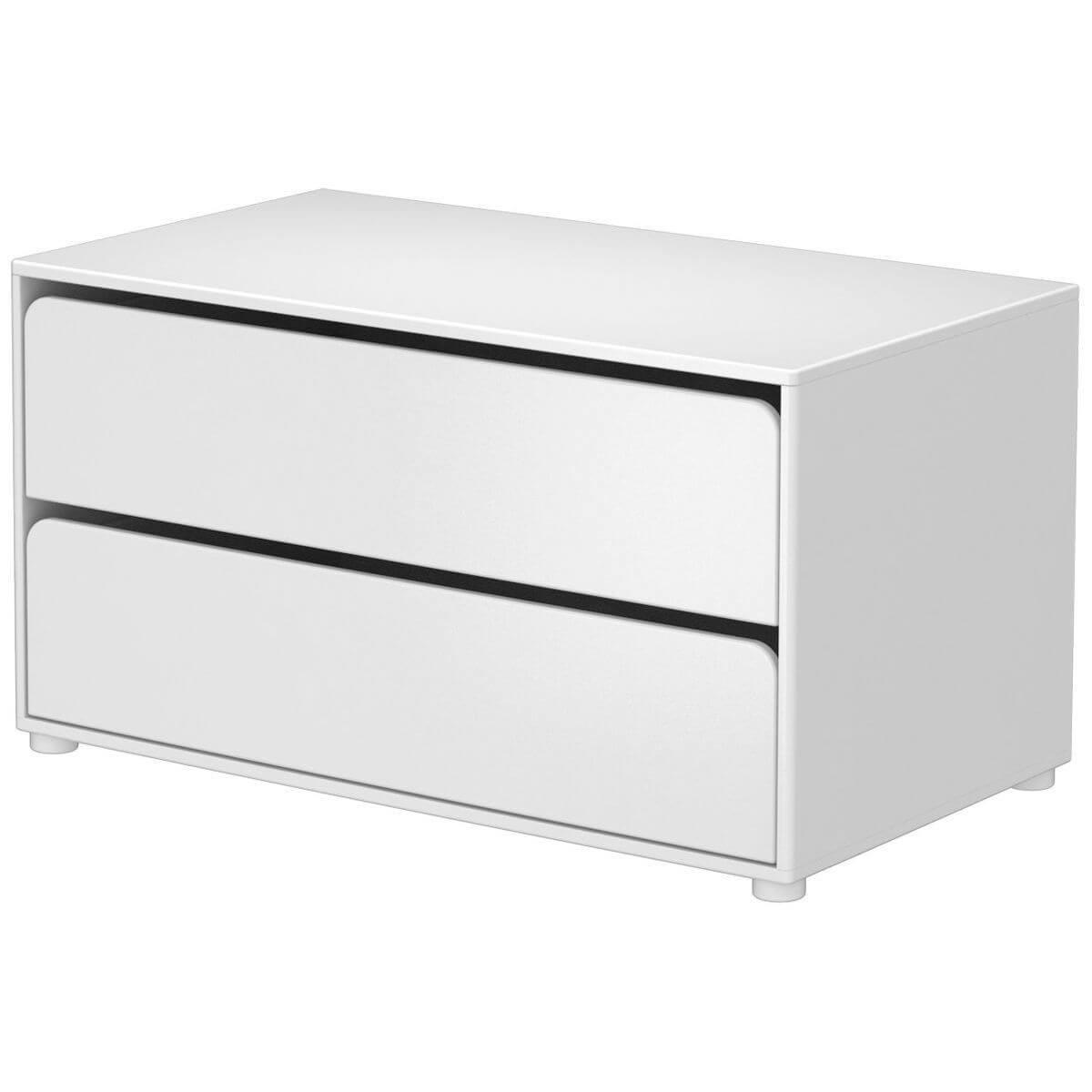 CABBY by Flexa Commode basse 2 tiroirs Blanc