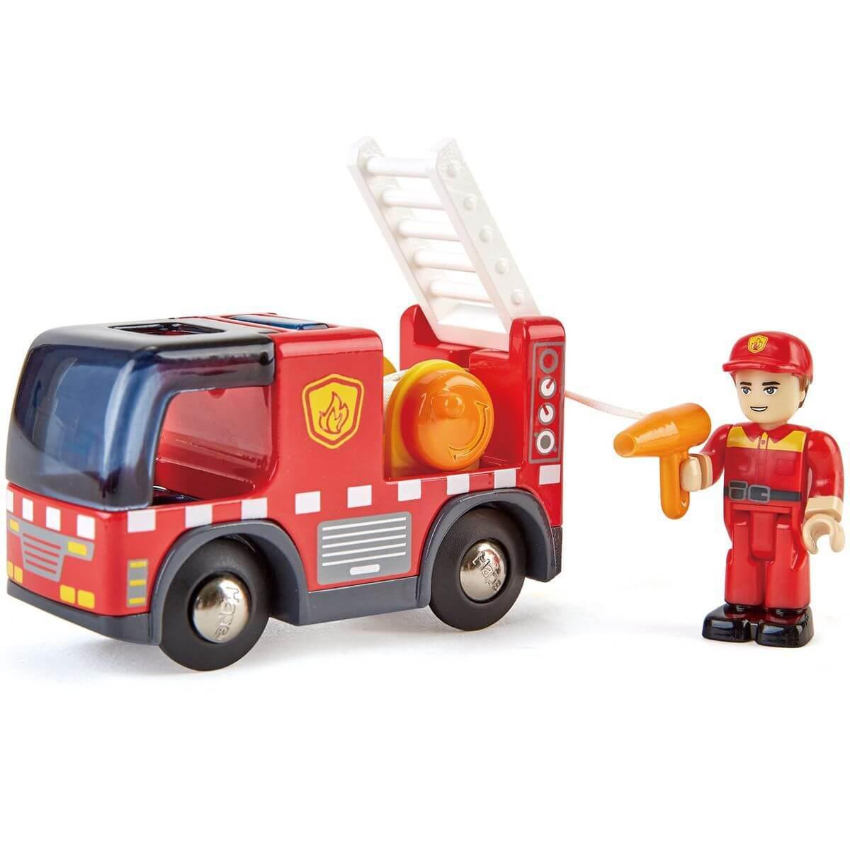 Camion de pompiers avec sirène FIRE TRUCK Hape