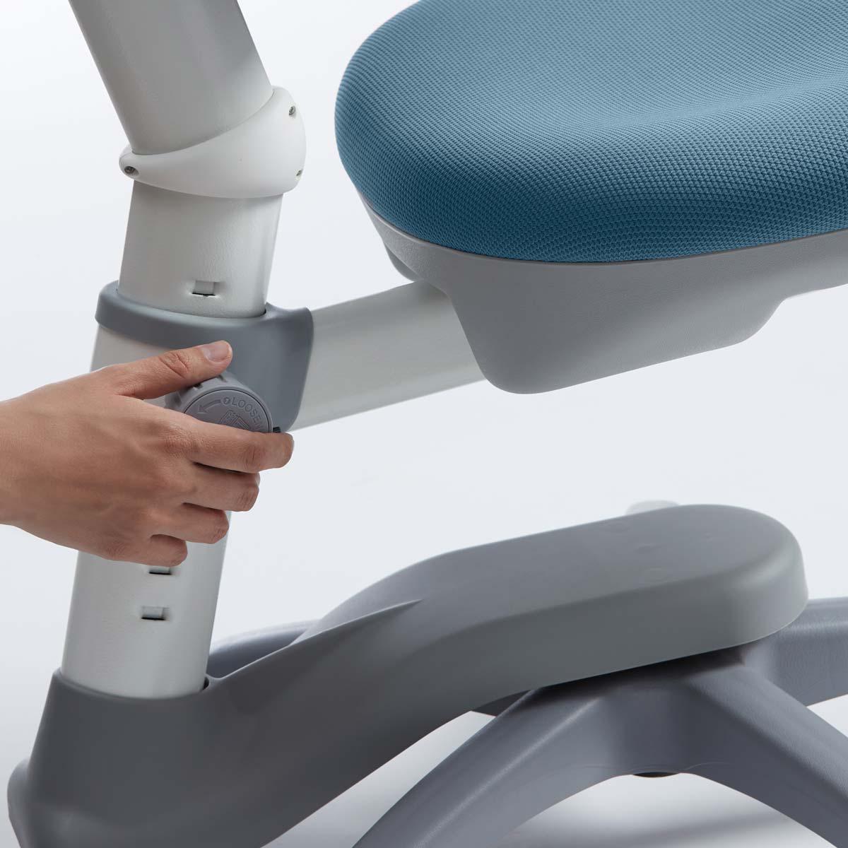 Chaise bureau 7-12Y VERTO Flexa light blue