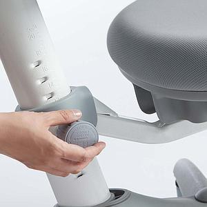 Chaise bureau 7-12Y VERTO Flexa light grey