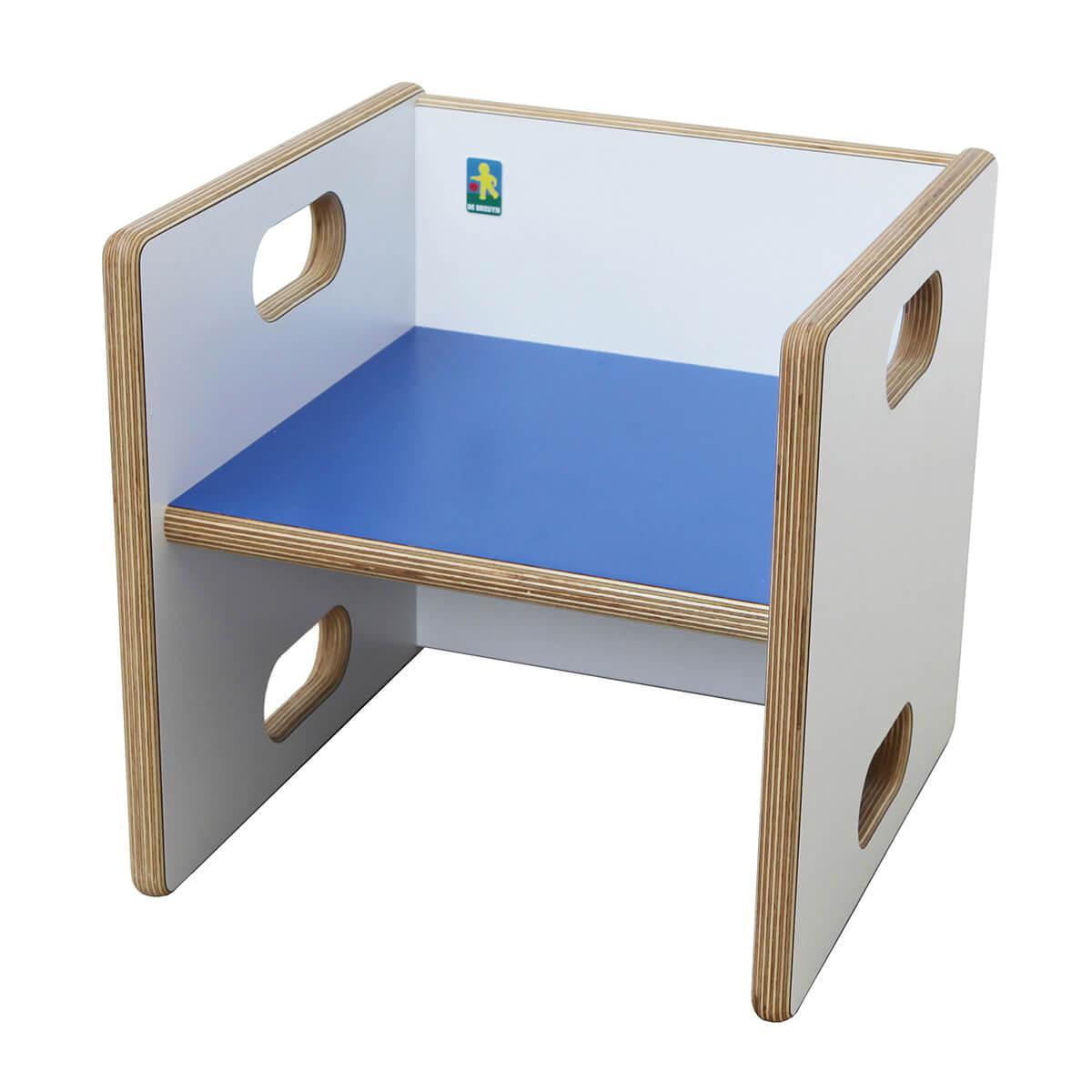 Chaise évolutive Ziggy de Breuyn Multiplex white HPL - seat dark blue