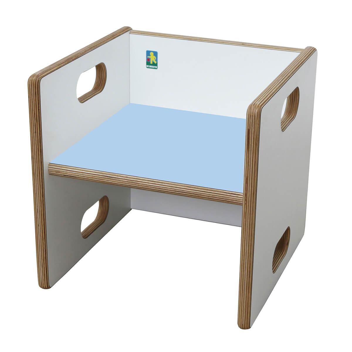 Chaise évolutive Ziggy de Breuyn Multiplex white HPL - seat light blue