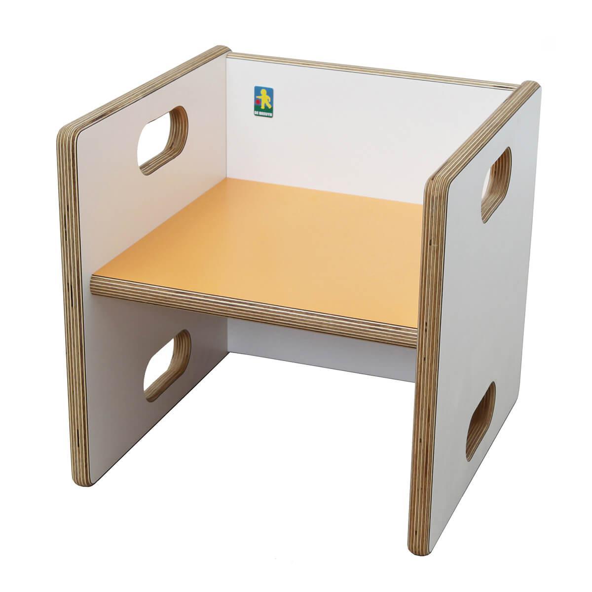 Chaise évolutive Ziggy de Breuyn Multiplex white HPL - seat orange