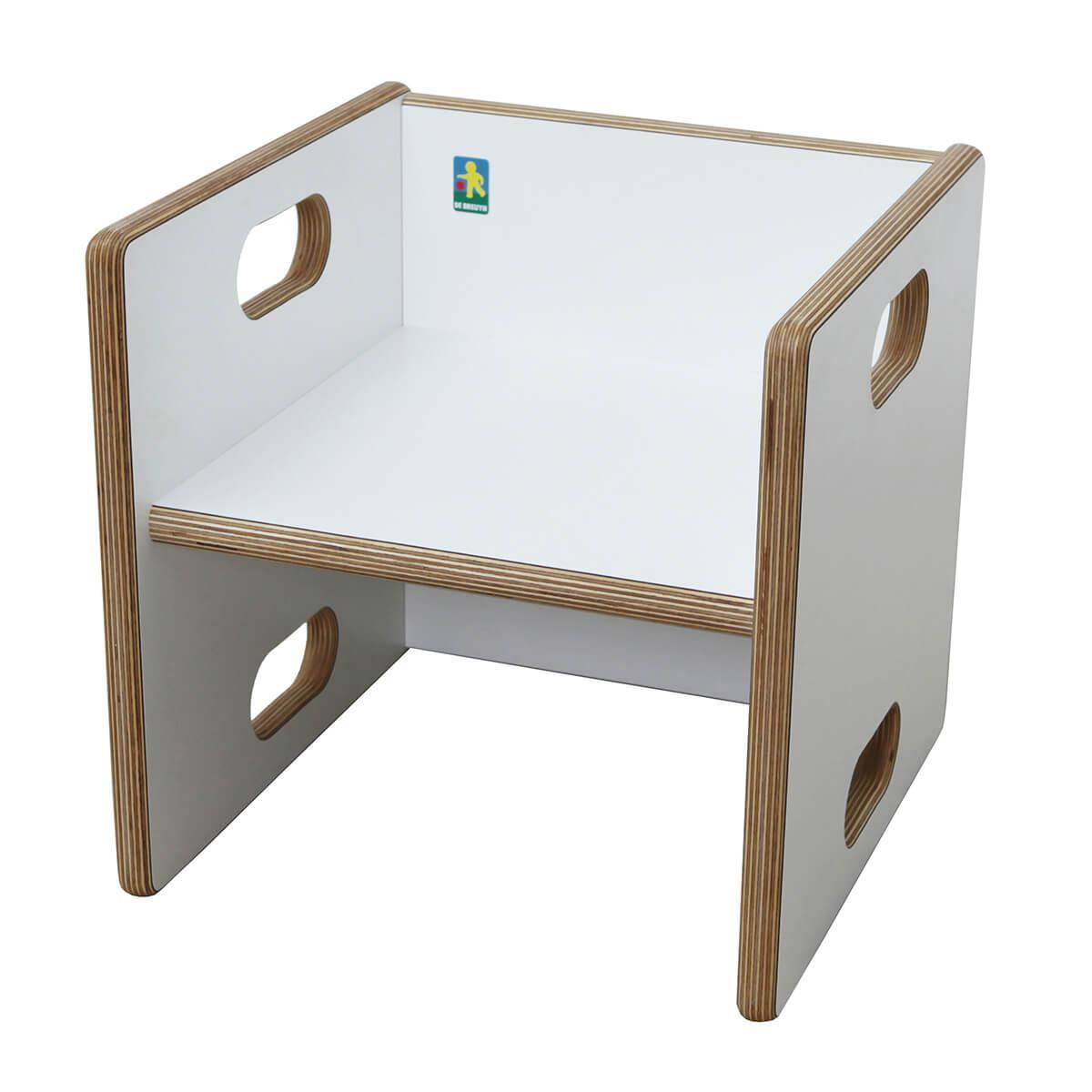 Chaise évolutive Ziggy de Breuyn Multiplex white HPL - seat white