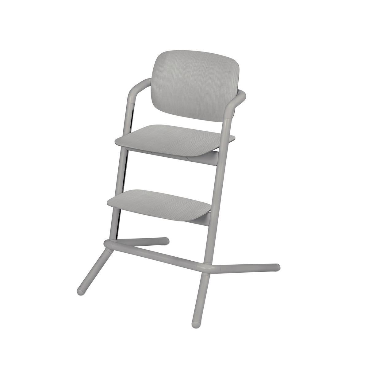 Chaise haute bois LEMO Cybex gris storm-gris