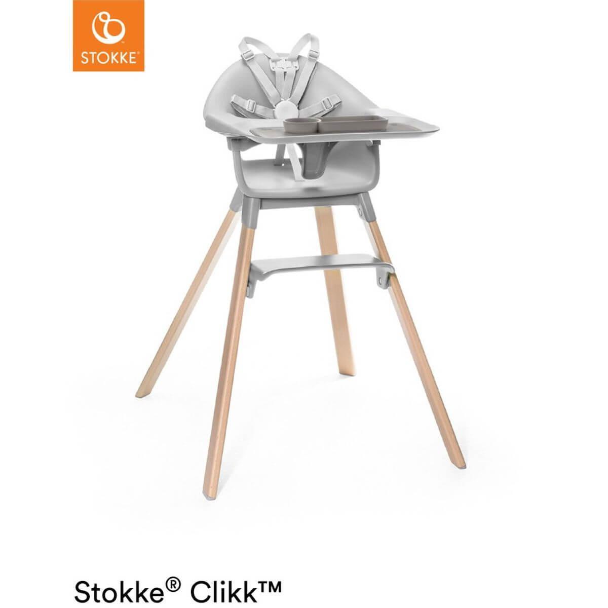 Chaise haute CLIKK™ Stokke gris nuage