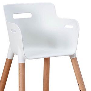 Chaise haute junior BABY Flexa naturel-blanc