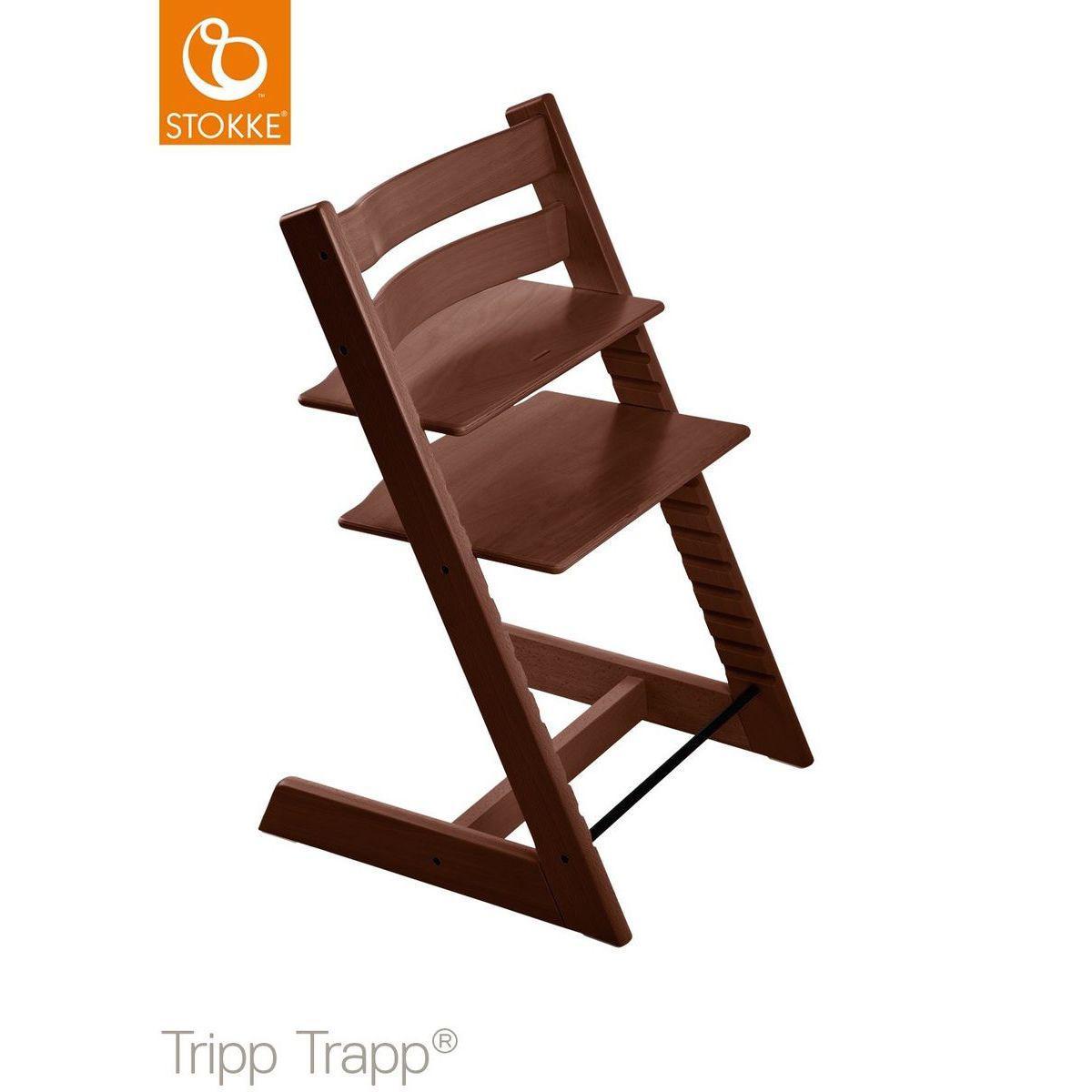 Chaise haute TRIPP TRAPP Stokke noyer