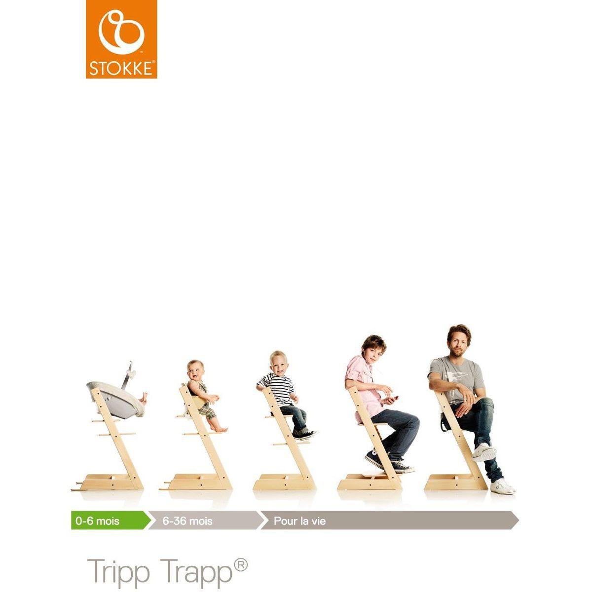 Chaise haute TRIPP TRAPP Stokke rose serein