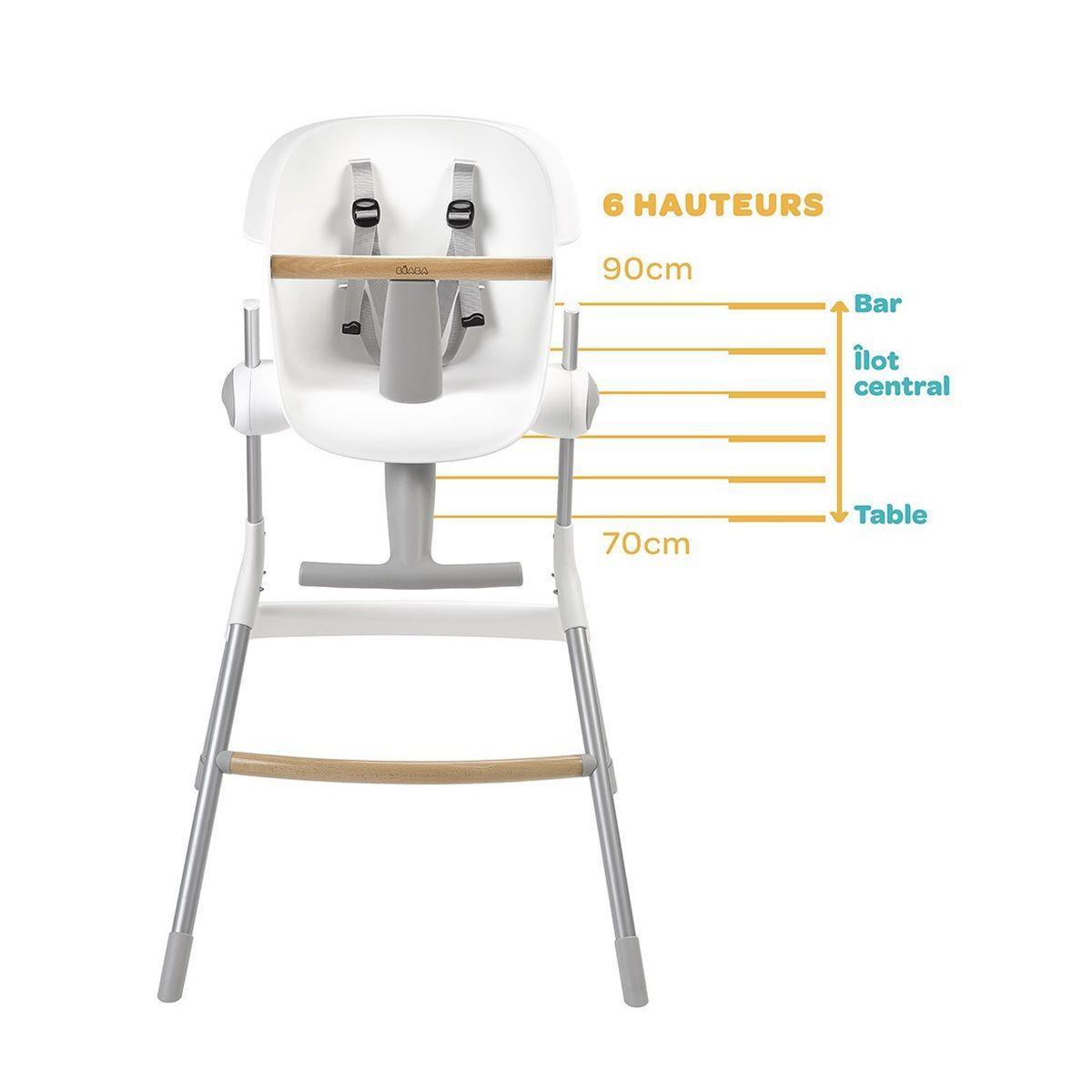 Chaise haute UPANDDOWN Beaba grey-white