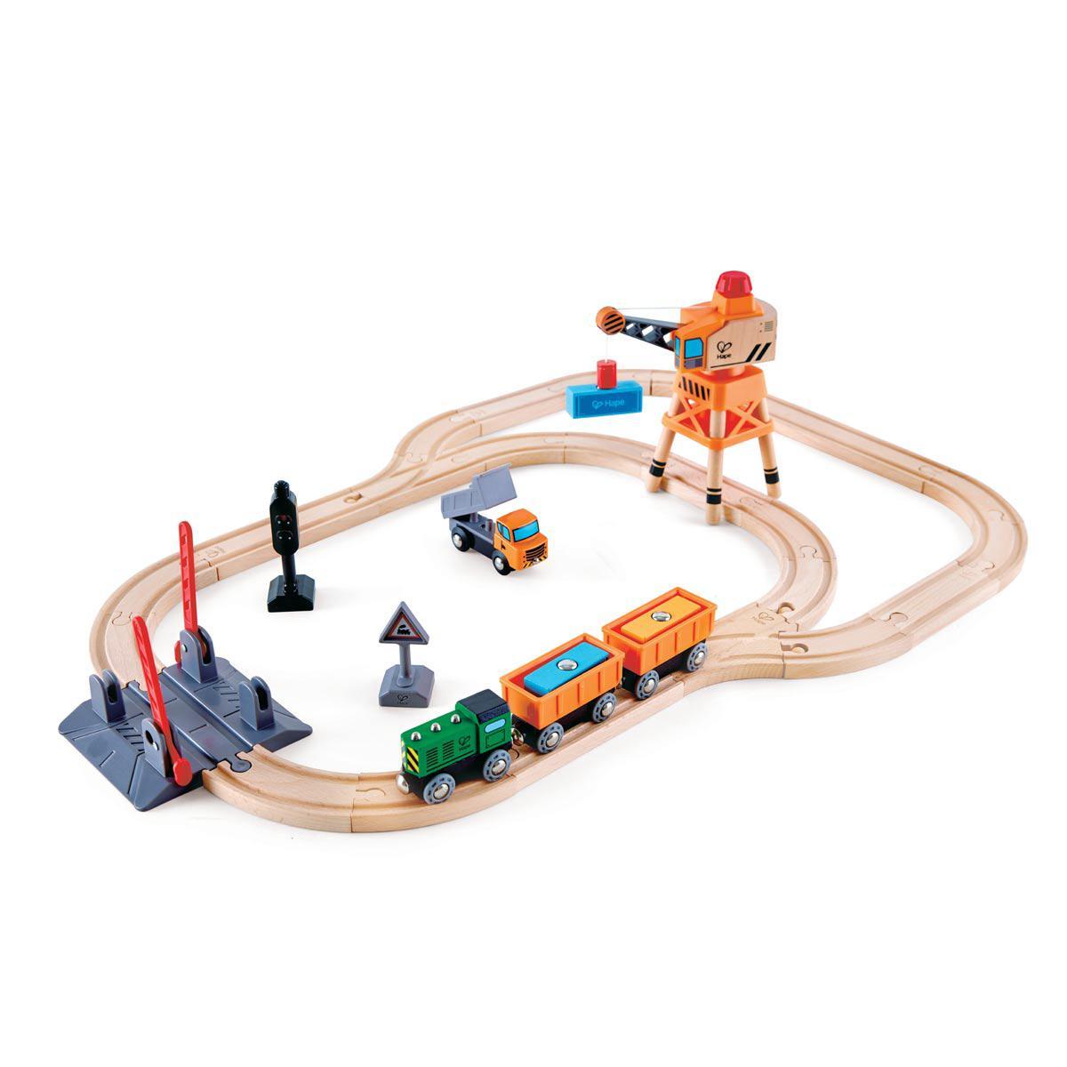 Circuit de train CROSSING AND CRANE Hape