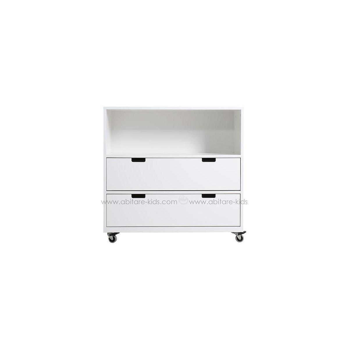 COMBIFLEX by Bopita Petite armoire à roulettes 1 espace + 2 tiroirs - Small