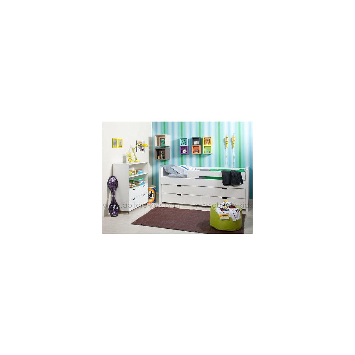 COMBIFLEX by Bopita Petite armoire à roulettes 2 espaces + 2 tiroirs - Medium