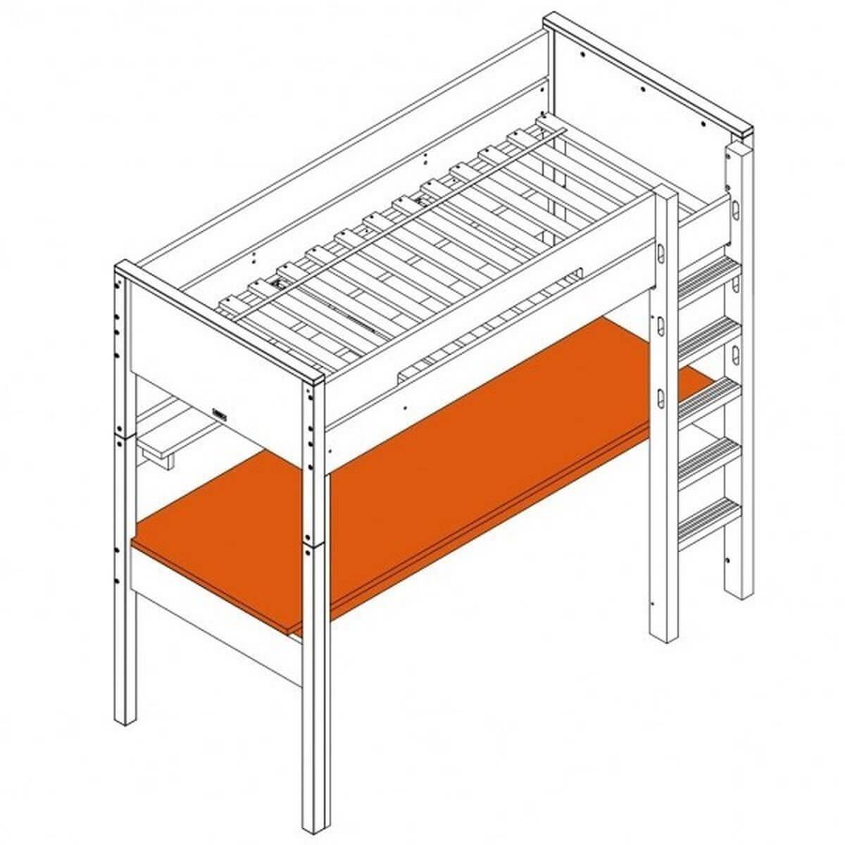 COMBIFLEX by Bopita Plateau de bureau pour lit mezzanine XL
