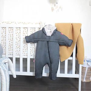 Combinaison 0-6m COMBI T-ZIP Redcastle heather grey