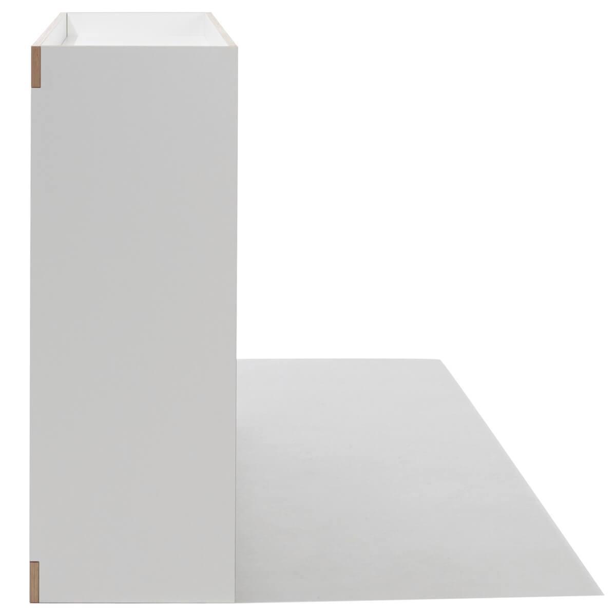 Commode 2 portes FLAI Mueller blanc - bord en bouleau