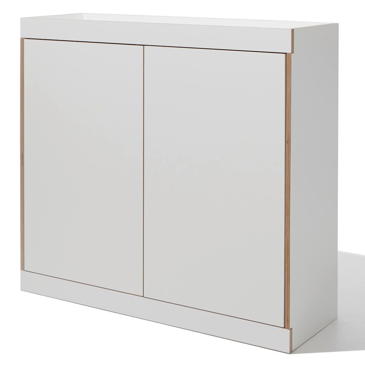 Commode 2 portes FLAI Mueller blanc-bouleau