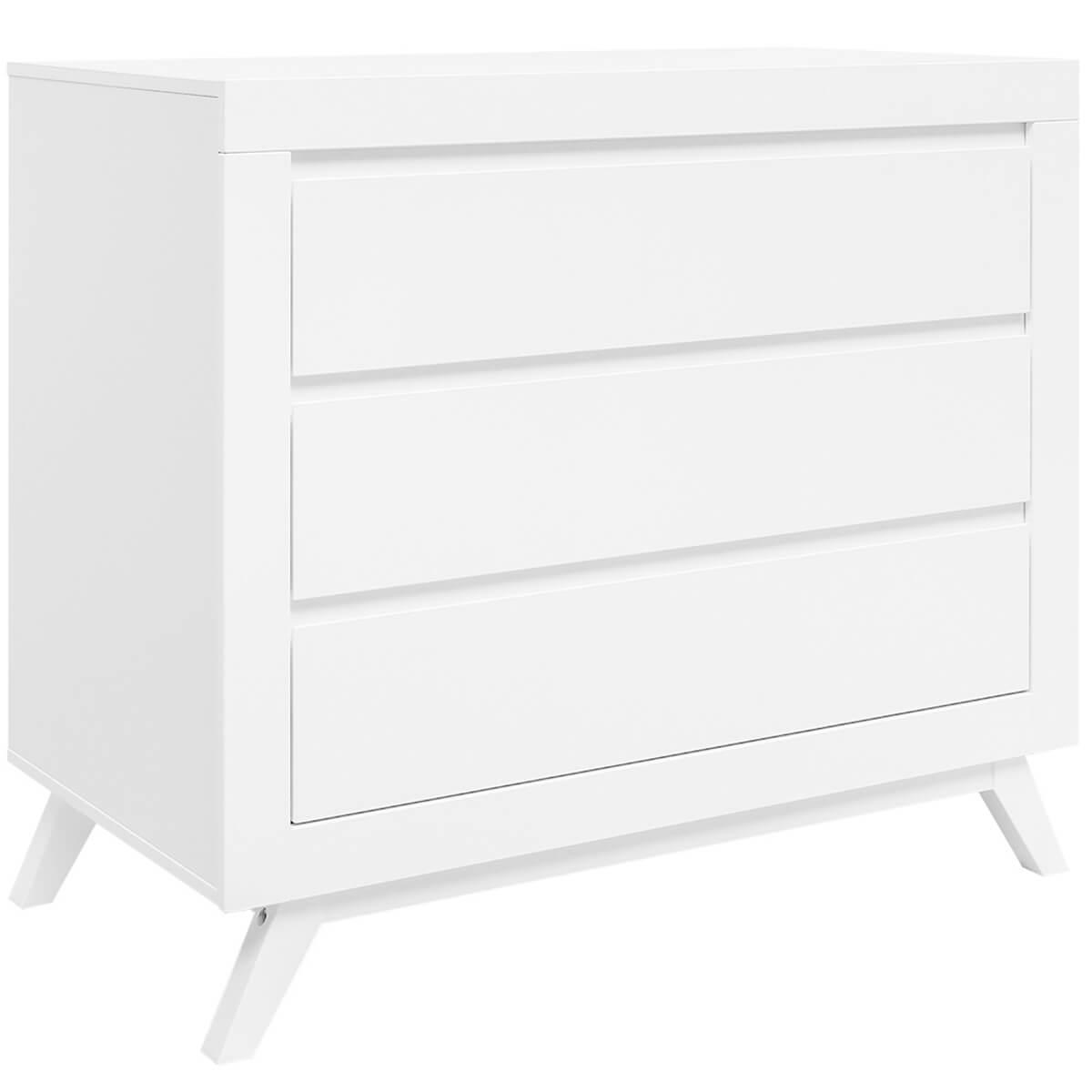 Commode 3 tiroirs ANNE Bopita blanc
