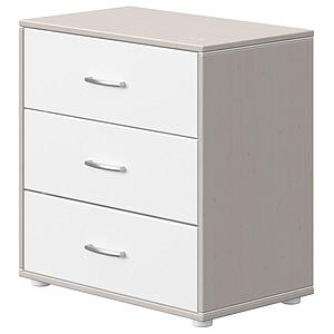 Commode 3 tiroirs CLASSIC Flexa grey washed-blanc