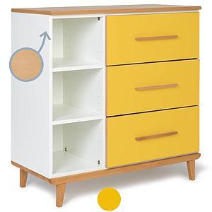 Commode 3 tiroirs NADO sunshine yellow