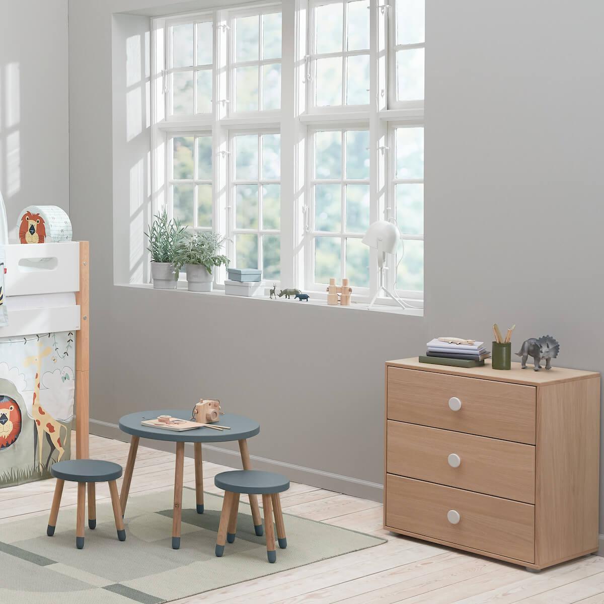 Commode 3 tiroirs POPSICLE Flexa chêne-blanc