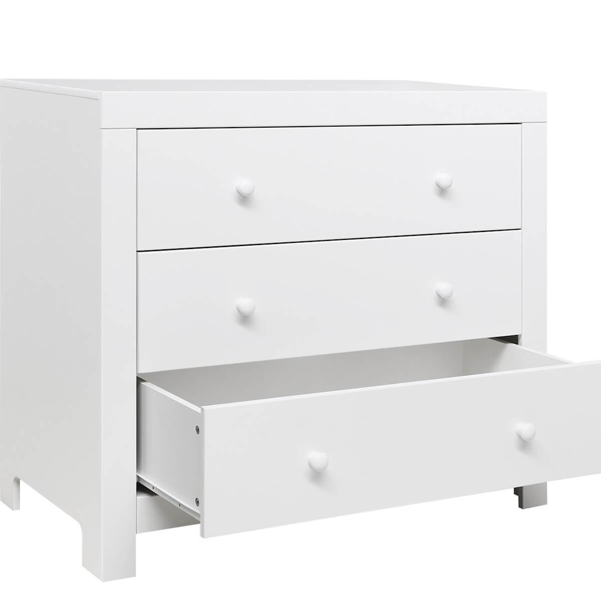 Commode 3 tirois HUGO Bopita blanc