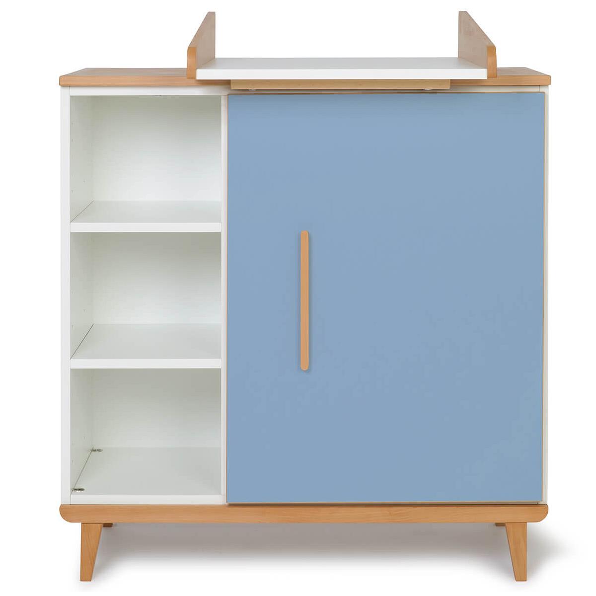 Commode à langer 1 porte NADO capri blue