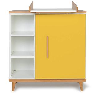 Commode à langer 1 porte NADO sunshine yellow