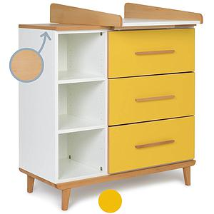 Commode à langer 3 tiroirs NADO sunshine yellow